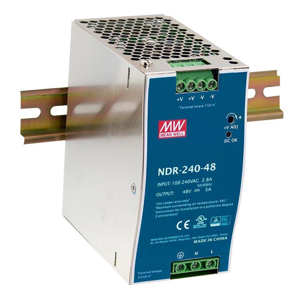 PLANET PWR-240-48 průmyslový zdroj na DIN lištu, nastavitelný 48-56V DC, 240W