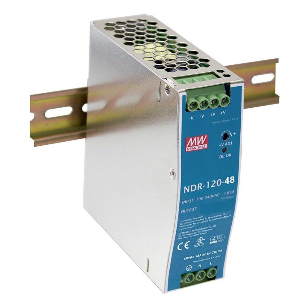 PLANET PWR-120-48 průmyslový zdroj na DIN lištu, nastavitelný 48-56V DC, 120W