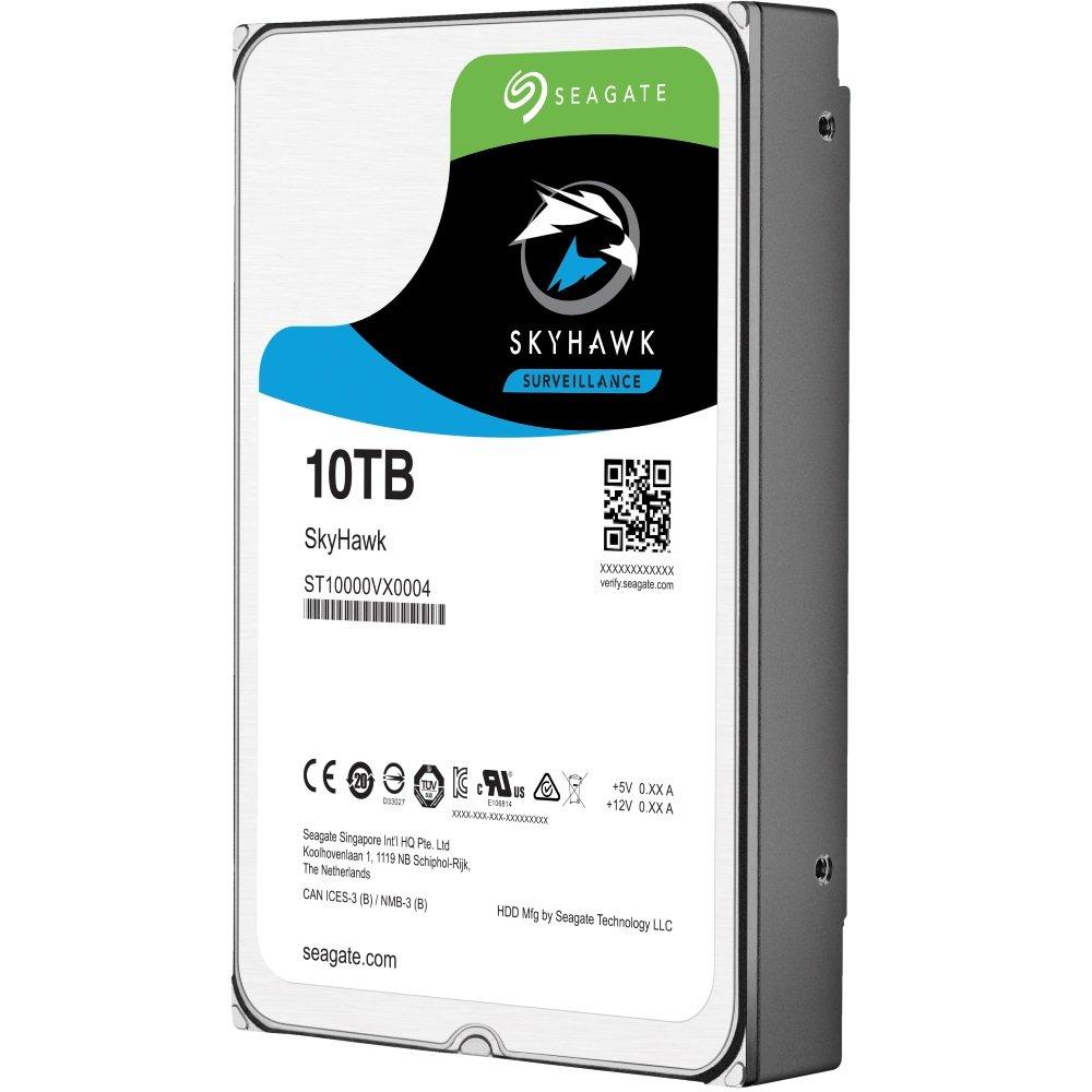 """Seagate SkyHawk 10TB HDD / ST10000VX0004 / Interní 3,5"""" / 7200 rpm / SATA 6Gb/s / 256 MB"""