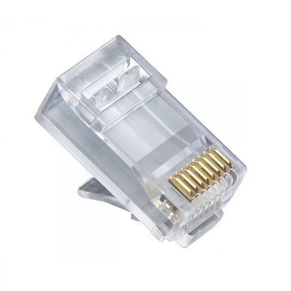 Konektor RJ45 lanko (použitelné i na drát)