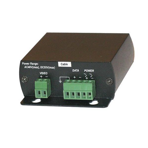 Přepěťová ochrana analogové video+napájení+RS485, zemnící vodič, svorkovnice
