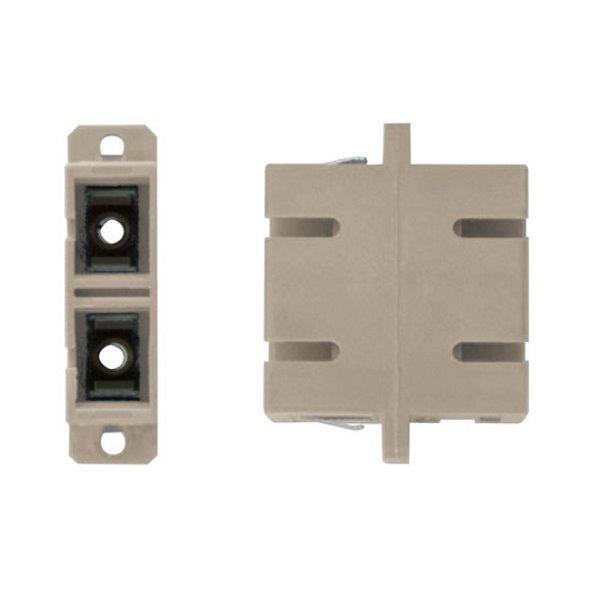 XtendLan SC-SC duplex adapter MM, PC , šedý, do optických rozvaděčů