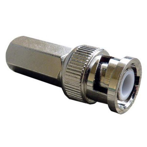Konektor BNC/M na RG59, 6mm,  (1-dílný: nástrčné tělo s pinem, instaluje se našroubováním na kabel), 75 Ohm