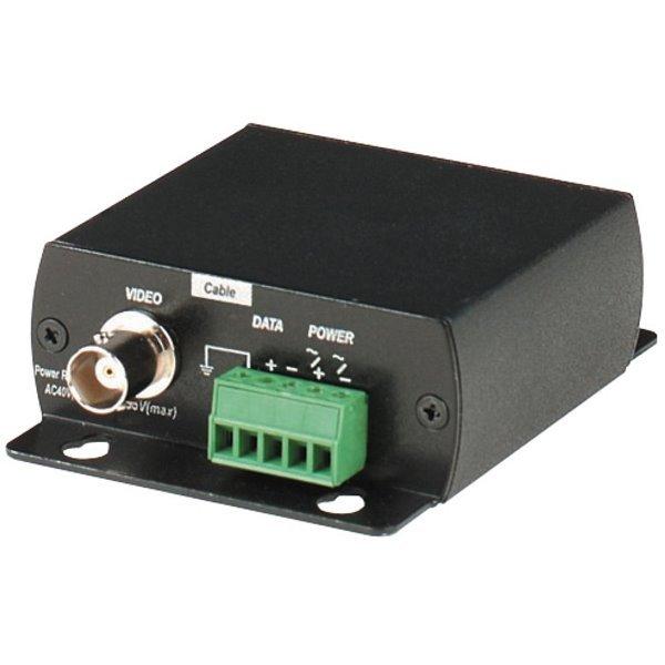 Přepěťová ochrana napájení,video portů a RS485 sběrnice v jednom, BNC+svorkovnice, zemnící vodič