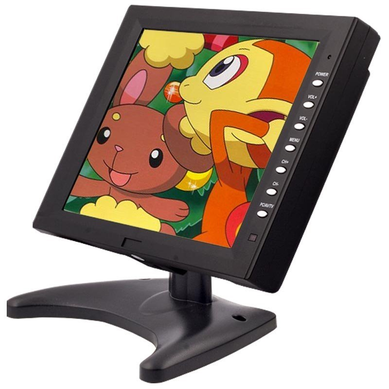 "10"" TFT touch monitor, VGA, 2x A/V, 1024x768"