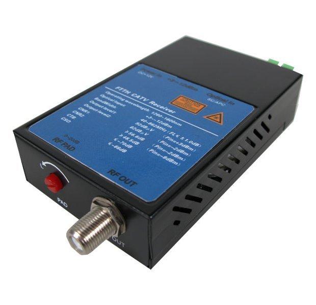 Optický CATV přijímač, FTTH, 1540~1650nm, -11~4dBm, předává 1310~1490nm,dual LC/APC, výstup 76dBuV