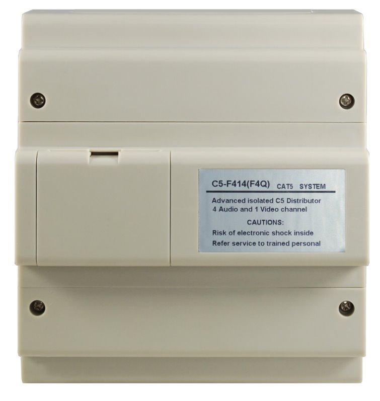 Rozbočovač hlavního vedení pro monitory, UTP CAT5, 1x video nebo 4x audio hovor současně