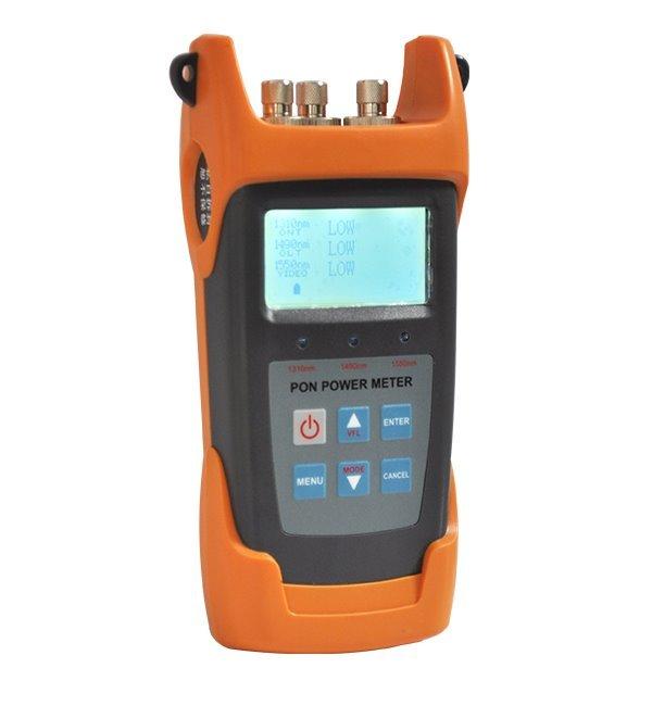 FM131P - PON a CW optický ruční meřič a VFL lokátor v jednom, LCD displej
