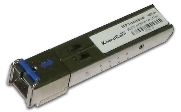 SFP modul, 100Base-FX, WDM, 1550/1310nm 20km, single mode, SC konektor