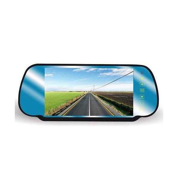 """Zpětné zrcátko do auta se 7"""" LCD monitorem, dotykové ovládání"""