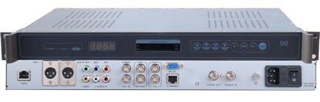 DVB-S demodulátor, 1x LNB vstup 950-2150MMHz, 1x ASI vstup, 1x ASI výstup, 2x CI