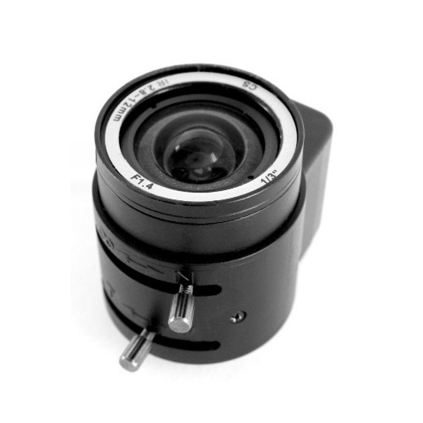"Objektiv Vari-focal DC Drive AutoIris, IR, 2.8-12mm, CS-mount, 1/3"", 81-23 stupnů, do 2Mpix"