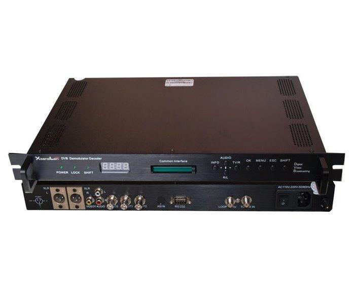 DVB-S demodulátor, 1x LNB vstup 950-2150MMHz, 1x ASI výstup, 2x CI