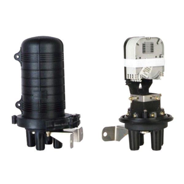 Vodotěsná optická spojka, zemní/zeď/stožár, 24 vláken 4x6, 3+1 prostup, samosmršťovací, 300x188mm
