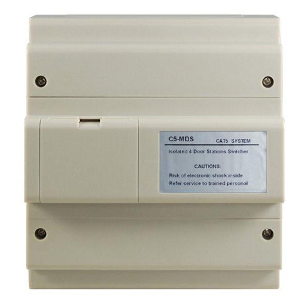 Propojovací box pro 4 dveřní stanice nebo CCTV kamery v CAT5 systému