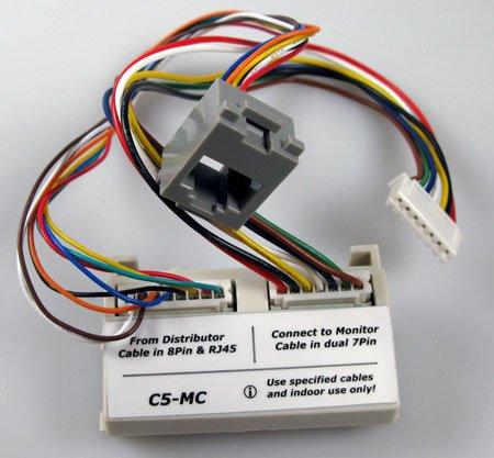 DPA-C5-MC adaptér pro konverzi 6-ti drátového monitoru na CAT5 verzi