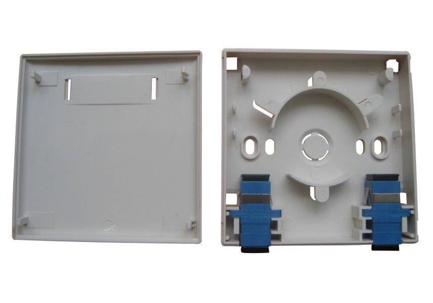 XtendLan zásuvka, pro 2x SC adaptér (bez SC adaptérů), 86x86mm