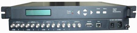 Kodér MPEG-2/DVB,  4x kompozitní vstup, 1x ASI výstup, MPEG2, 1x LAN, multiplexor