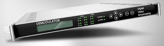 DVB-S demodulátor, 4x LNB vstup 950-2150MMHz, 4x ASI výstup