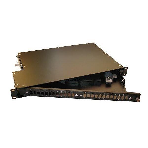 """XtendLan 19"""" optický rozvaděč, 24 portů SC/LC, otočná montáž"""