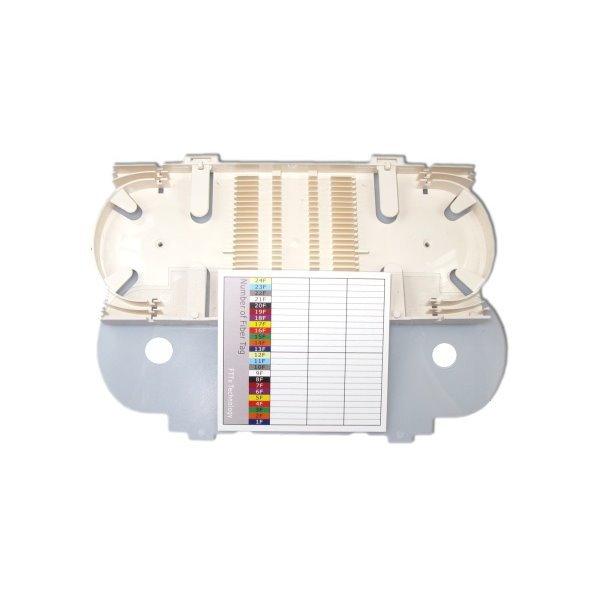 XtendLan plastová kazeta s pro uchycení 24 svarků průměru 4mm, svarky vedle sebe