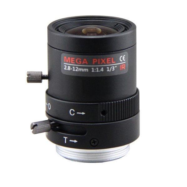 Objektiv Vari-focal manual clona, 2,8-12mm, CS-mount, IR přizpůsobení, megapix do 1.6Mpix