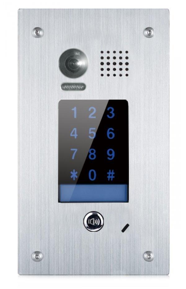 """Dveřní stanice pro D2, číselná klávesnice, CCD 1/3"""" 170st., nerez ocel, zapuštěná montáž, IP65, 1zámek"""