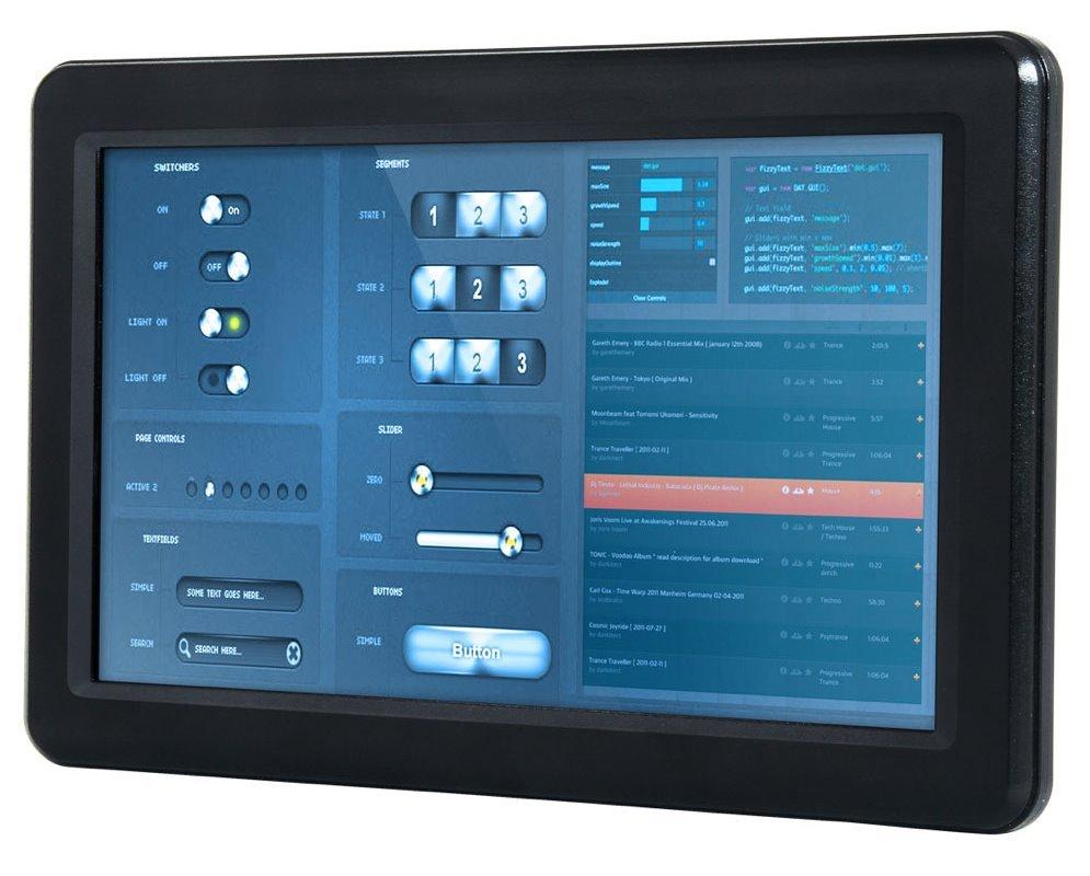 "9"" touch panelPC, 933MHz x86DX2,1GB,3x USB,1xLAN,2xCOM, audio, CF/ slim SSD, 12V-24V DC"