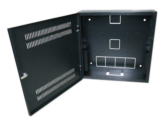 """Rozvaděč 540x150x550, černý, uchycení pro zařízení 19"""" (2U + 4U),  na zeď"""