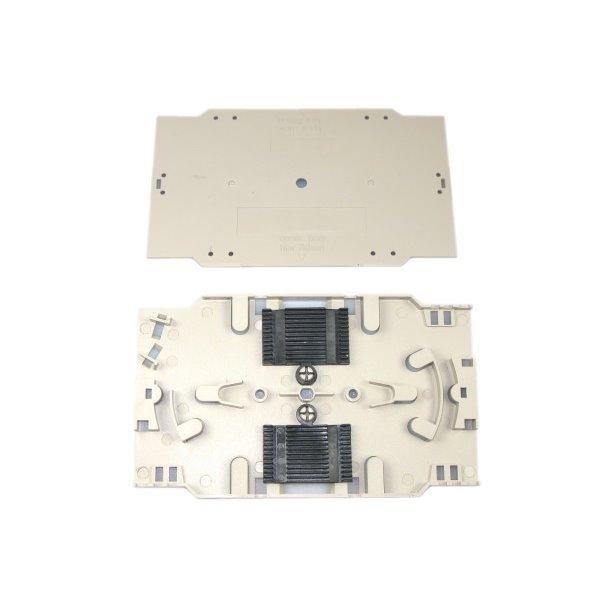 XtendLan plastová kazeta s pro uchycení 24 svarků průměru 2mm, svarky vedle sebe