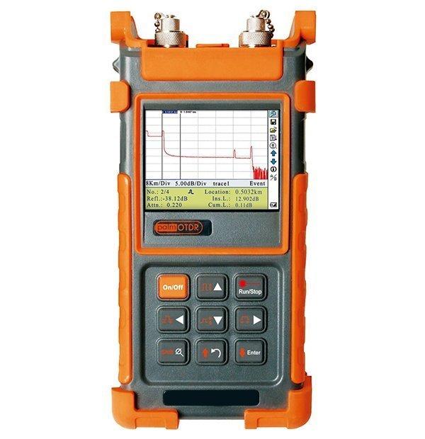 OTDRHD-22M, ruční OTDR, 850/1300nm, MM, 21/24dB, do 80km,VFL, měření výkonu, barevný LCD, RS-232/USB