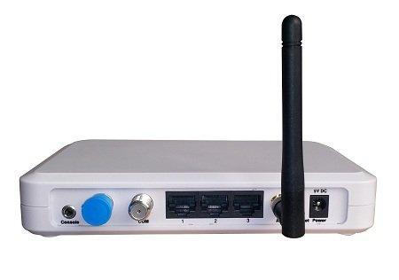 ROZBALENÉ - MoCA bridge, 100Mbps, 2x koax, Slave, klientská jednotka, 4x LAN, 1x WiFi,bez správy-výprodej