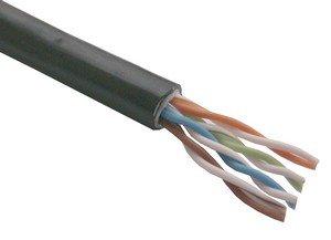 Kabel UTP, drát, 4pár, Cat 5e, PE+PVC venkovní dvouplášť, Planet Elite, Dca (balení 305m)