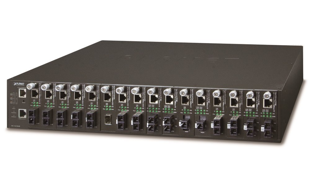 Planet MC-1610MR, 16 slotů, šasi konvertorů, Web/SNMP