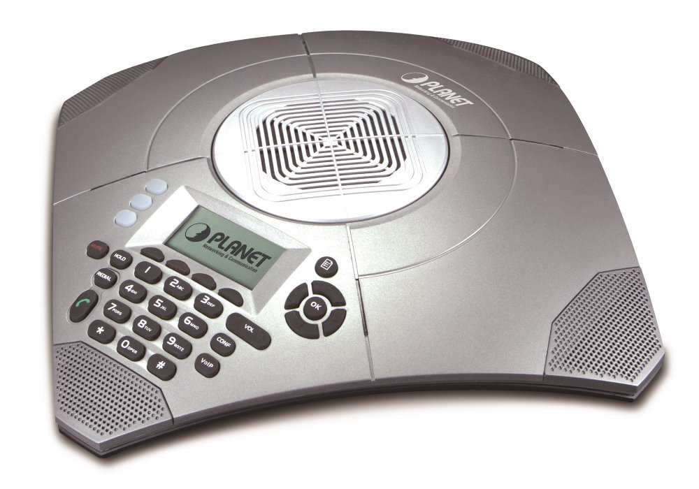 Planet VIP-8030NT VoIP telekonferenční telefon, SIP, LCD, 3-SIP účty, nahrávání hovorů