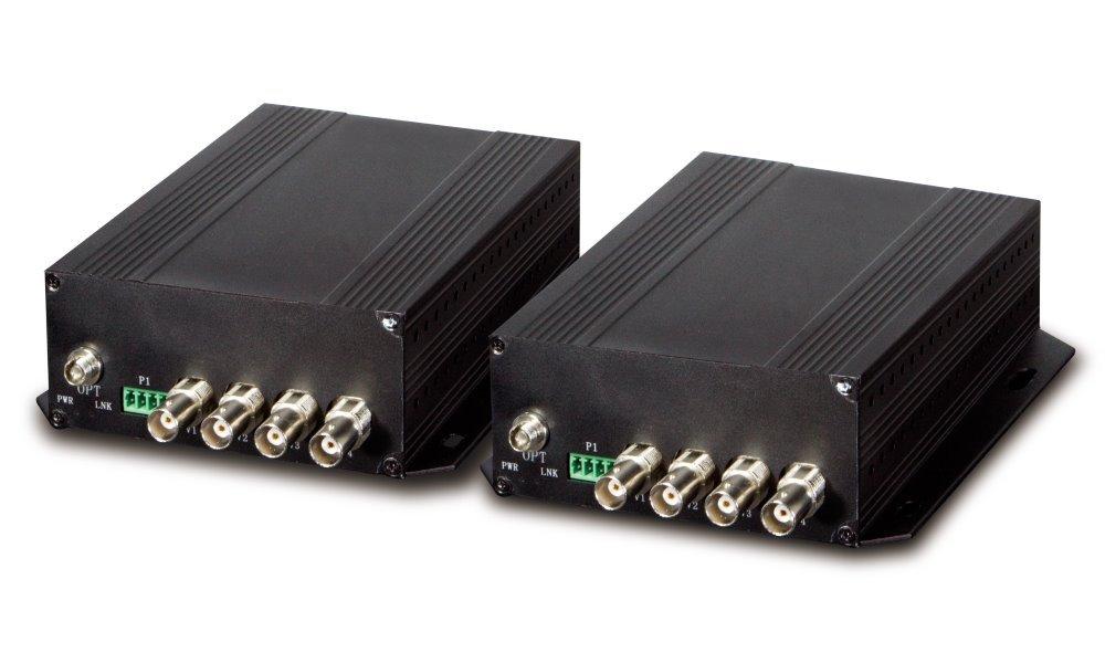 Planet VF-402-KIT opto konvertor 4x Video, 4x RS-485, FC konektor,singlemode, po jednom vlákně, cena za pár