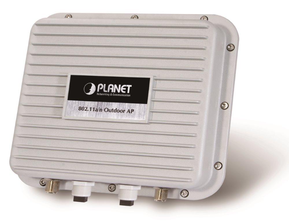 Planet WNAP-7350 venkovní AP/router, 5GHz, WISP, 300Mbps,40klientů,2x N-konektor, firewall, PoE - Doprodej