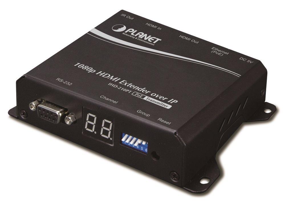 Planet IHD-210PT, HDMI video extender, vysílač, FullHD, H.264, multicast,IR, napájení PoE