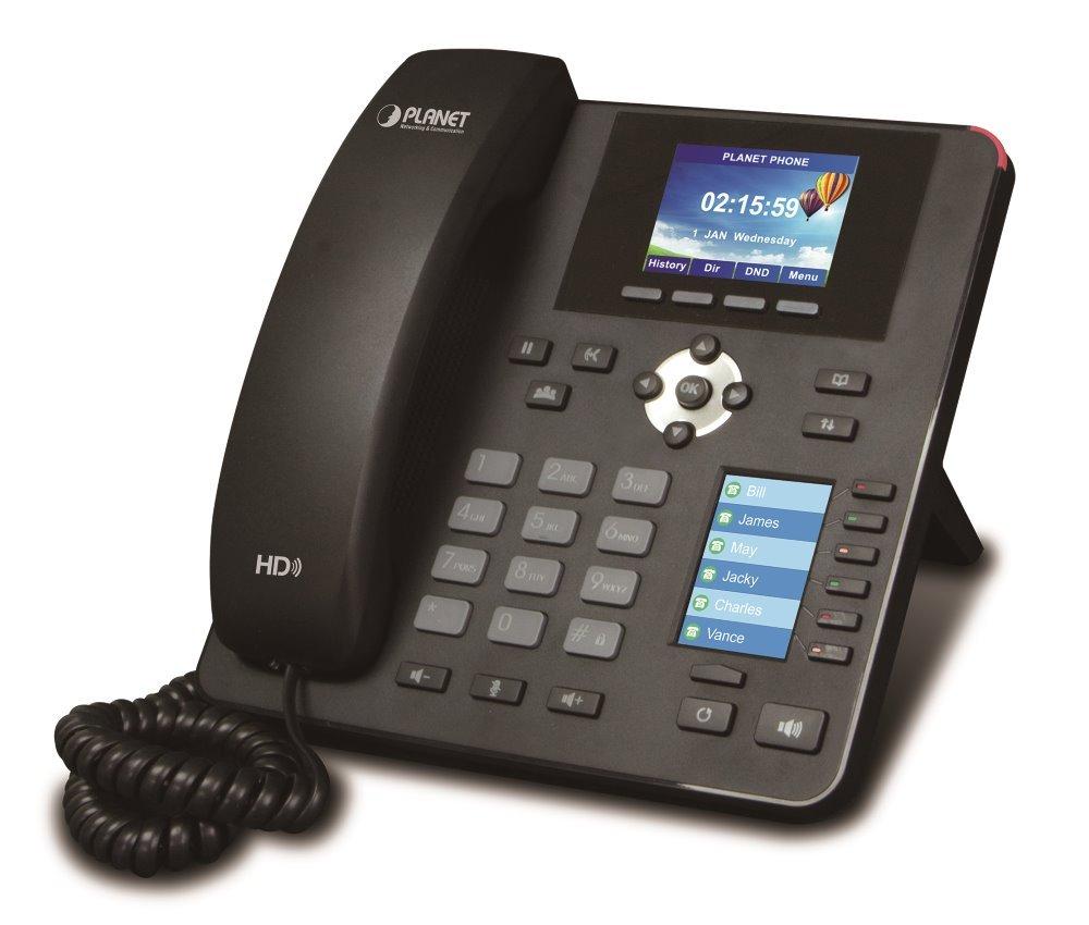 Planet VIP-2140PT VoIP telefon, G.722 HD, LCD+DSS displeje, BLF tlačítka, 4x SIP účty, Auto konf, PoE, CZ