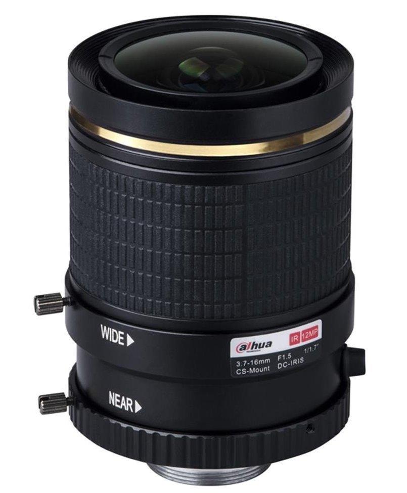 """Objektiv 1/1,7"""",Vari-focal, DC Drive,3,7-16mm, CS-mount, IR přizpůsobení, do 12Mpix/4K"""