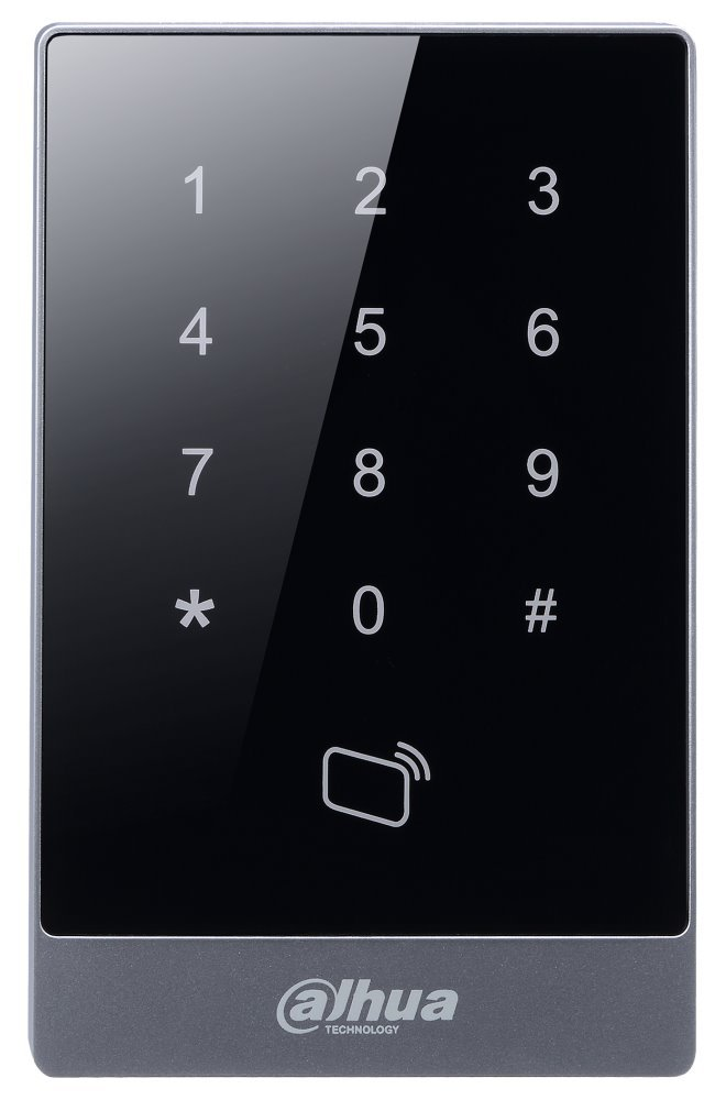 Dotyková kódová klávesnice s RFID čtečkou - 125Hz, IP55, RS-485 a Wiegand