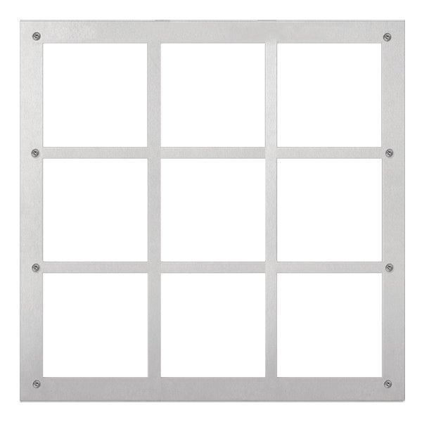 Modulární IP dveřní stanice, panel pro devět modulů, obsahuje instalační příslušenství