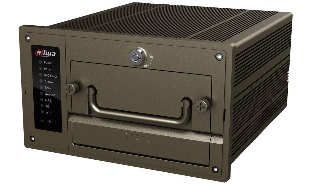 DAHUA NVR mobilní 4xIP/ 2Mpix/ H.264/ 2xHDD/ VGA+CVBS/ 1xLAN+8xPoE/ alarm in-out/ RS485/ EN50155/ DC 8-36V