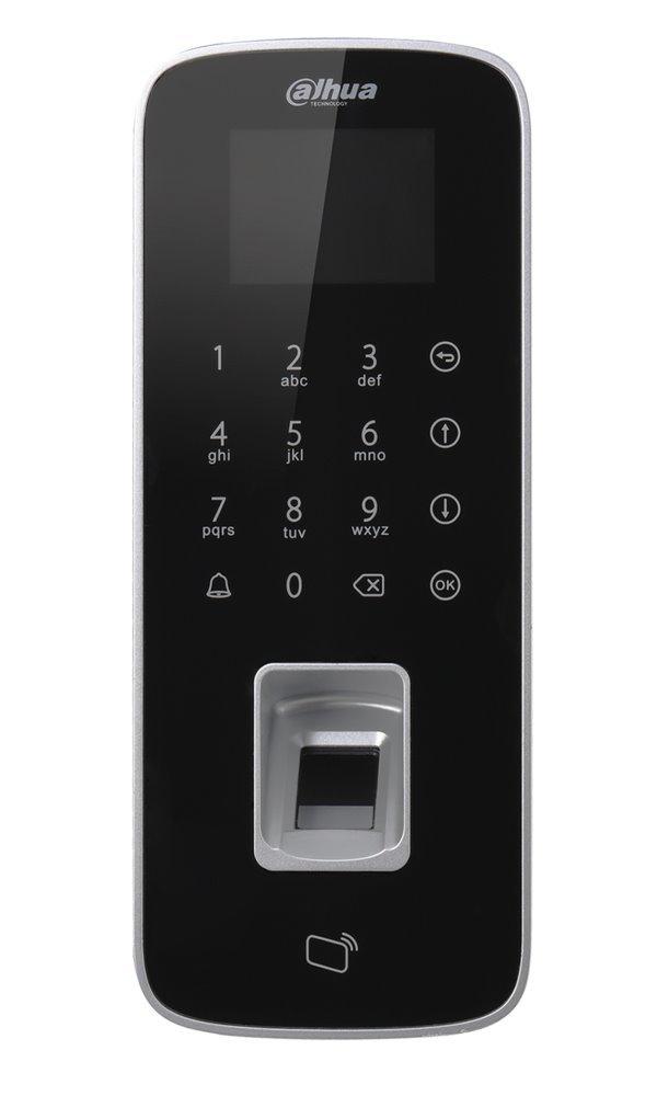 Autonomní dotyková kódová klávesnice s RFID čtečkou 13,56MHz a čtečkou otisků prstů, IP65, TCP/IP