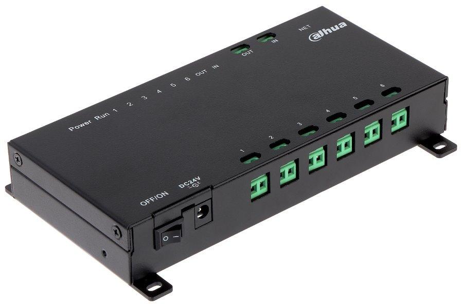 Napájecí switch pro 2-drátové IP videovrátné Dahua, připojení až 6ti monitorů
