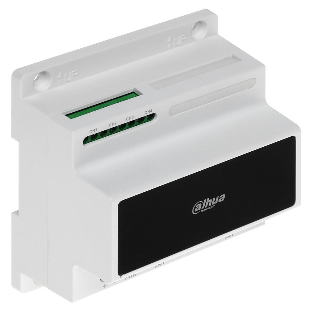 LAN kontrolér pro 2-drátové IP Villa videovrátné Dahua, připojení až 4 dvoudrátových větví