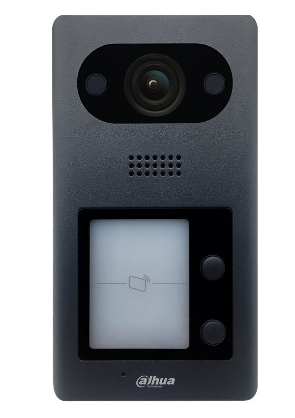 "IP dveřní stanice, 2x zvonek, kamera 2Mpix 1/2,8"", TCP/IP CAT5, PoE 802.3af, IP65, IK08"