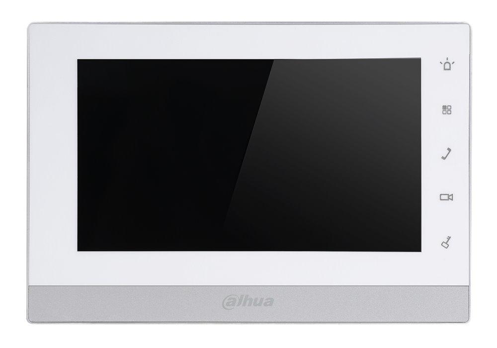 """Bytový monitor 2-drát IP Villa, dotykový TFT 7"""", paměť, alarm out, bílo-stříbrný, CZ"""