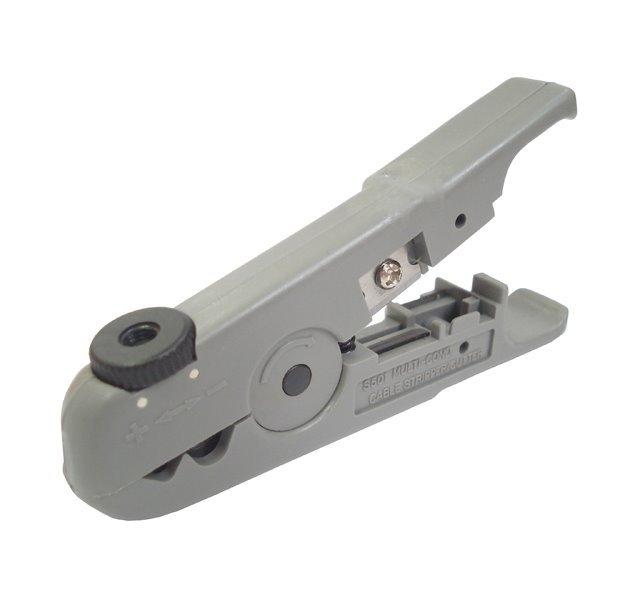 Odizolovávač kabelů pro průměry 3,2-9mm, i pro atypické profily, nastavení hloubky řezu