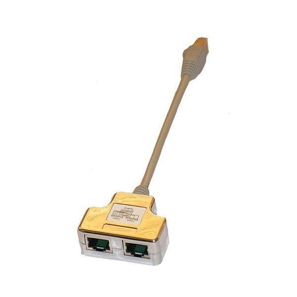 T rozdvojka-adapter 1xCAT 5E na 2xCAT5E